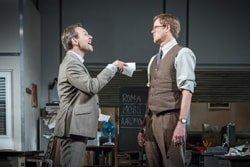 L-R Christian Slater (RIcky Roma) & Kris Marshall (John Williamson) – Glengarry Glen Ross at The Playhouse (c) Marc Brenner