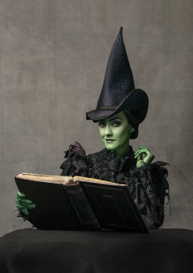 Alice Fearn as Elphaba in WICKED at the Apollo Victoria Theatre. Photographer Darren Bell