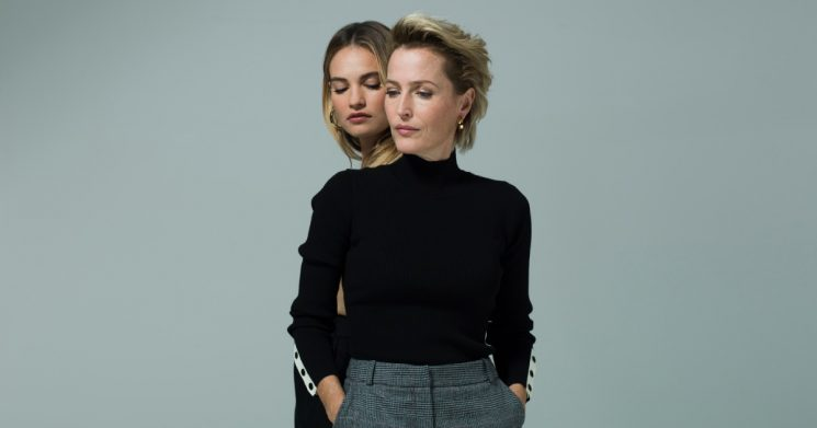 All About Eve: Gillian Anderson and Lily James c Perou