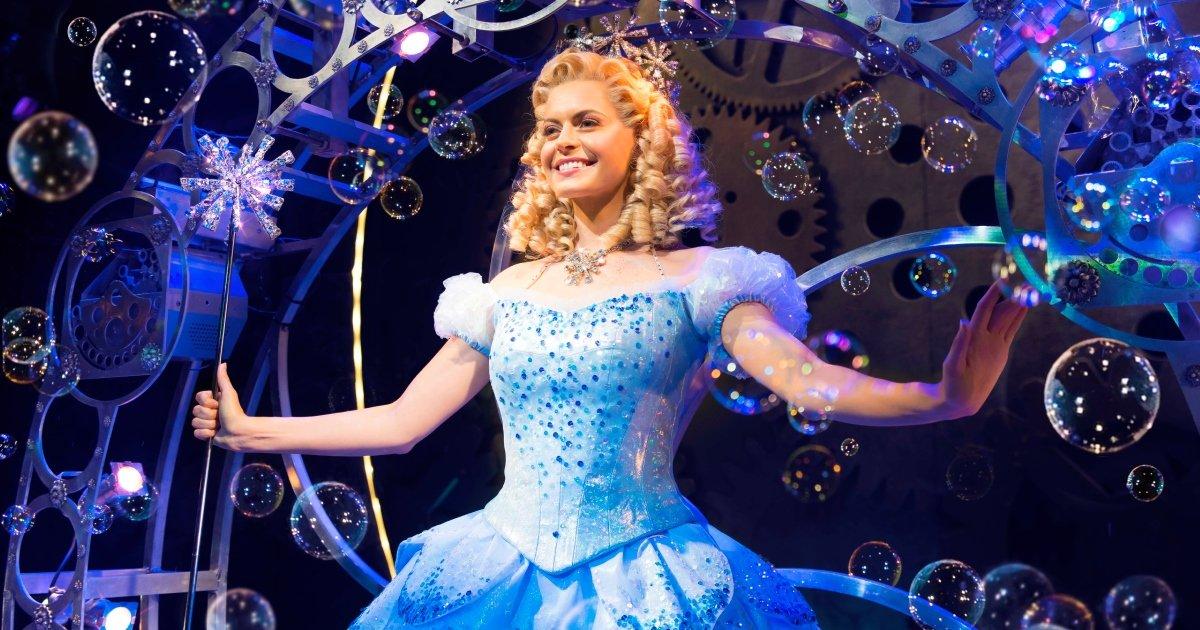 Sophie Evans (Glinda) in Wicked at The Apollo Victoria Theatre Photo Matt Crocket.