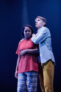Alice Vilanculo and Christopher Williams in NYTs Macbeth at the Garrick Theatre. Credit The Other Richard.