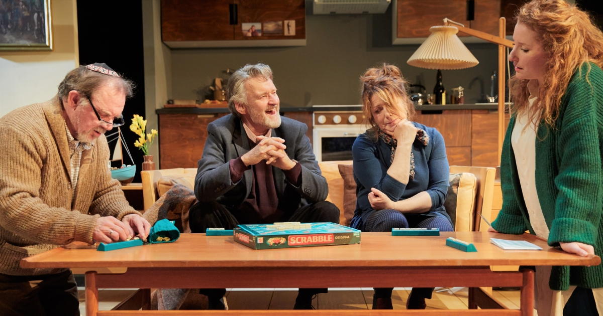 The cast of Rosenbaum's Rescue at Park Theatre. Photo by Mark Douet
