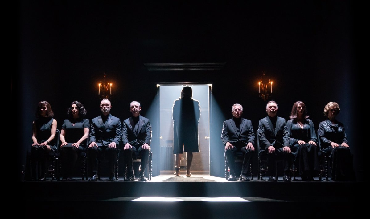 The Company in Pinter Six. Photo credit Marc Brenner