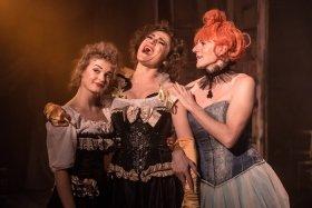 Kasey Claybourn (Colette), Emily Barnett-Salter (Yvette) and PK Taylor (La Goulue) by Scott Rylander.