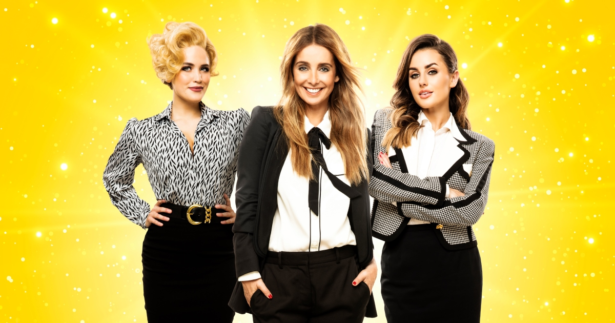 9 TO 5 THE MUSICAL. Louise Redknapp 'Violet Newstead', Natalie McQueen 'Doralee Rhodes' and Amber Davies 'Judy Bernly' .Photo by Simon Turtle.