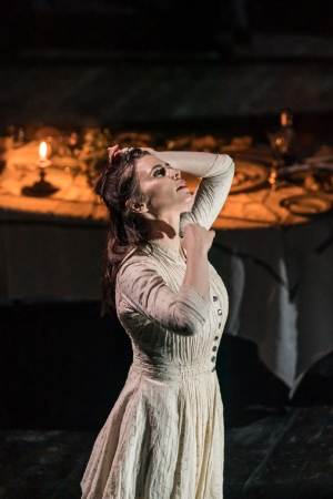Hayley Atwell in Rosmersholm. Photography Johan Persson.