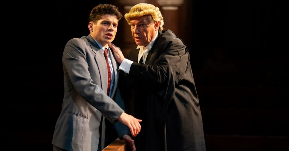 Lewis Cope and Simon Dutton in Witness for the Prosecution.