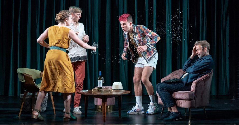 Karen Fishwick (Clare), Joshua James (Finn), Calam Lynch (Cas), Richard Cant - Photo by Marc Brenner