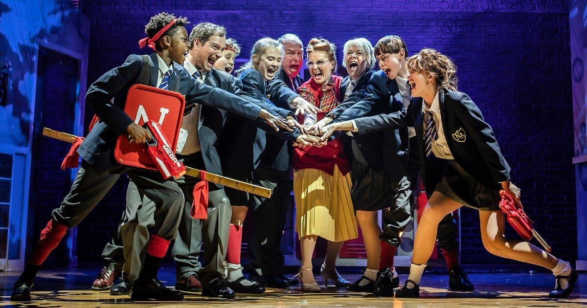 The Cast of Adrian Mole the Musical, credit Pamela Raith.