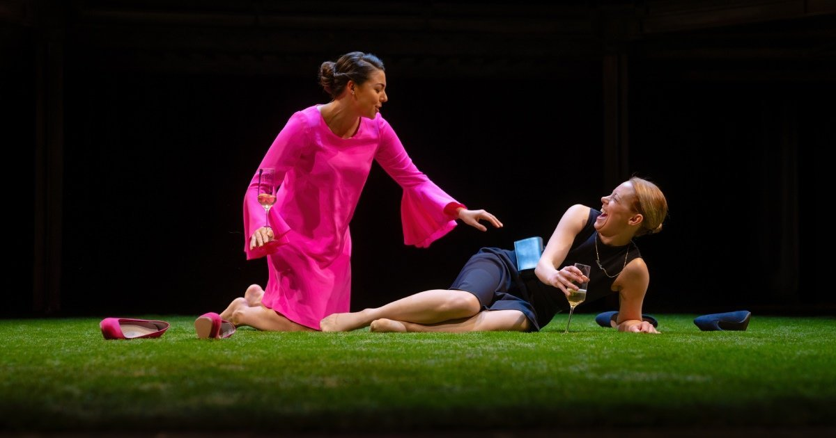 Sophie Khan Levy and Lucy Phelps as Celia and Rosalind - Photo by Topher McGrillis (c) RSC