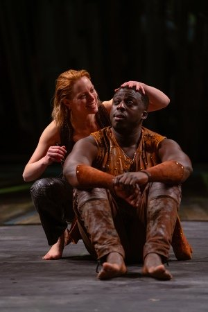 Lucy Phelps and David Ajao as Rosalind and Orlando - Credit Topher McGrillis RSC.