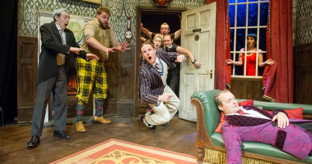 The Play That Goes Wrong - Cast Action - Photo Alastair Muir.