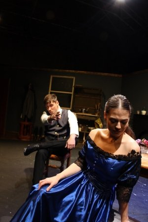 Gabriel Puscas as Jean and Sarah Collins as Miss Julie