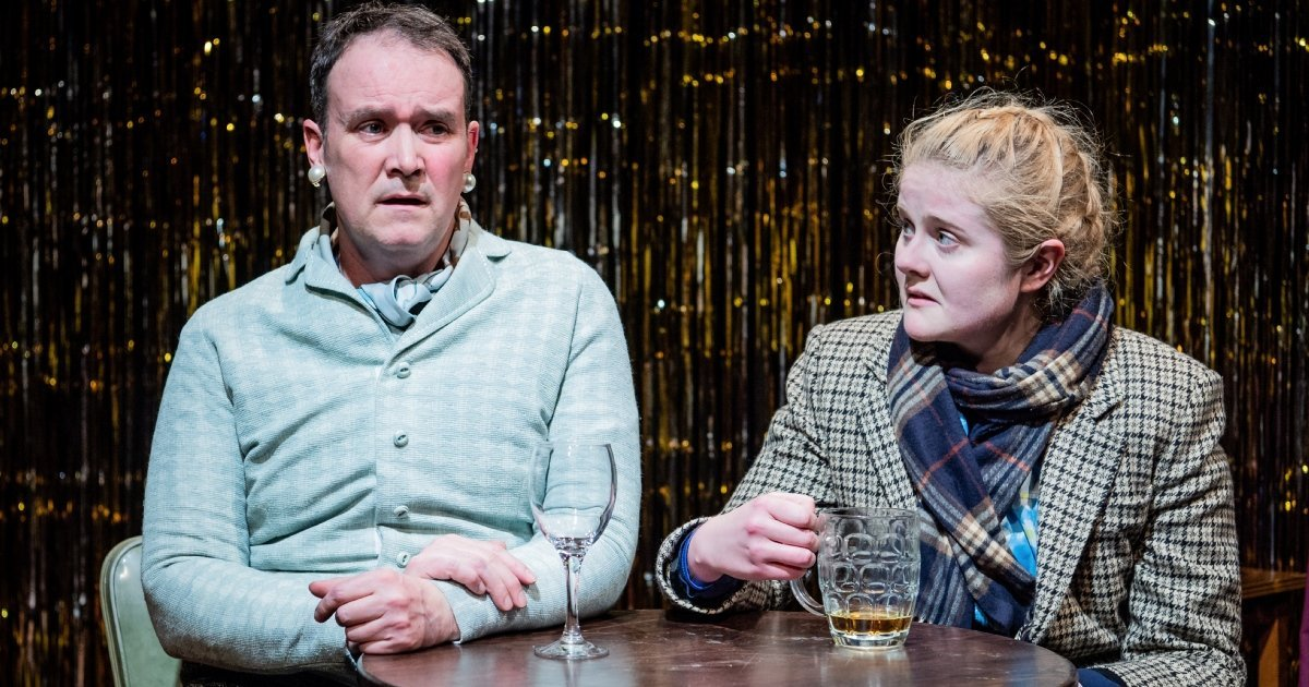 One Million Tiny Plays About Britain by Craig Taylor - Alec Nicholls and Emma Barclay at Jermyn Street Theatre. Credit to Robert Workman.
