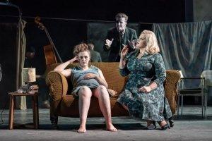 Gemma Dobson (Jo), Tom Varey (Peter) and Jodie Prenger (Helen) - A Taste of Honey - credit Marc Brenner