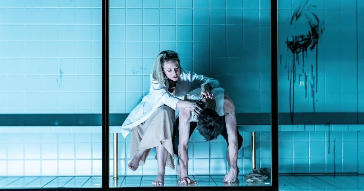 Lydia Wilson and Jack Riddiford in 'Duchess of Malfi' at Almeida Theatre.