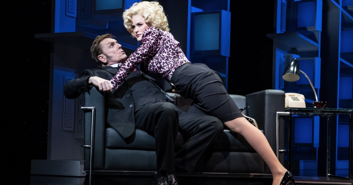 9 TO 5 THE MUSICAL. Brian Conley 'Franklin Hart' and Natalie McQueen 'Doralee Rhodes'. Photo Craig Sugden