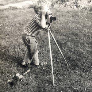 Mark Ravenhill with his Cine Camera in 1971 - Photo credit Mark Ravenhill.