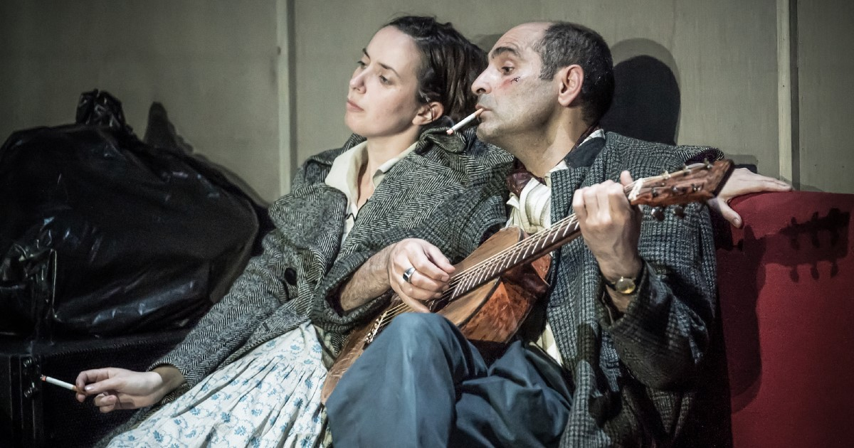 The Two Character Play Image - Kate O'Flynn and Zubin Varla Photo by Marc Brenner.