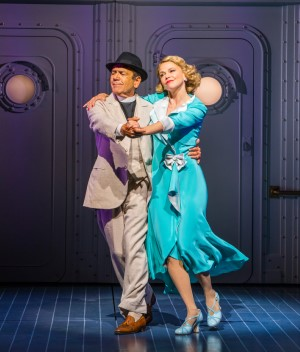 Robert Lindsay and Sutton Foster in Anything Goes – Photographer Tristram Kenton.