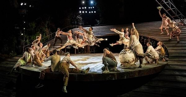 June is Bustin' Out. The Company of Carousel. Photo by Johan Persson.